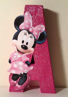 "Minnie Mouse character wall letter. I would have a ""J"""