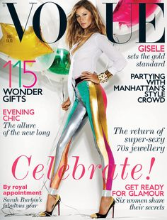 Our very own mylar stars in clear balloons creation on the cover of Vogue!