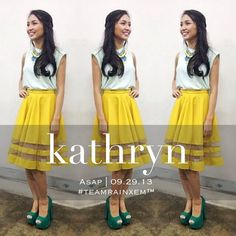 @Kathryn Whiteside Bernardo Filipina Beauty, Kathryn Bernardo, Jadine, Wedding Bells, Platform, Prom, Formal, Celebrities, How To Wear