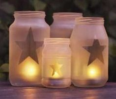 DIY Glass Jar Lanterns – Use recycled glass jars to create lanterns  Read more: thelovelyplants