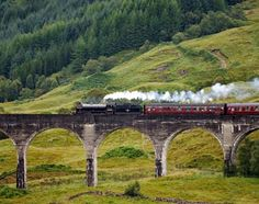 Take a train from London to Edinburgh and see all of the beautiful countryside (preferably the Hogwart's Express!) ;-P