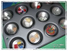 Crafty Chic Mommy: MUFFIN TIN MAGNETIC TRAY- TIPS FOR TOTS TUESDAY JAN 5th