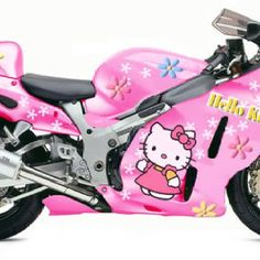 I love Hello Kitty and I love these bikes, but this is a bit too much for my taste/: Hello Kitty House, Pink Hello Kitty, Sanrio, Custom Hayabusa, Course Moto, Pink Motorcycle, Princess Kitty, Custom Sport Bikes, Hello Kitty Collection