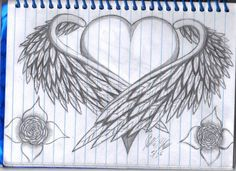 DeviantArt is the world's largest online social community for artists and art enthusiasts, allowing people to connect through the creation and sharing of art. de halloween a lapiz Heart With Wings by WhiteFireBird on DeviantArt Cool Heart Drawings, Broken Heart Drawings, Pencil Art Drawings, Art Drawings Sketches, Tattoo Drawings, Images Noêl Vintages, Wings Drawing, Heart With Wings, Heart Art