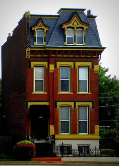 brick victorian in the LaSalle Park neighborhood (St. Victorian Architecture, Architecture Details, Interior Architecture, Beautiful Buildings, Beautiful Homes, Mansard Roof, Second Empire, Cute House, House Drawing
