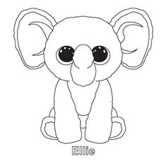 Ellie and other ty beenie boo coloring sheets