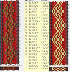 22 tarjetas, 3 colores, repite cada 20 movimientos // sed_424 diseñado en GTT༺❁
