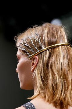"""@BALENCIAGA // audrey says, """"this looks a little like the crowns at millie's 5th birthday."""" millie says, """"i really like that. it's a treeful headband."""""""