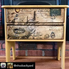 """14 Likes, 3 Comments - Stephanie Monahan (@monahanpapers) on Instagram: """"I absolutely LOVE this piece of furniture done by @nhssbackyard using our paper. #nhssbachyard…"""""""