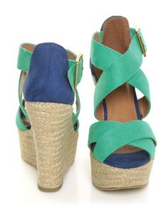 Teal Wedge - in love.