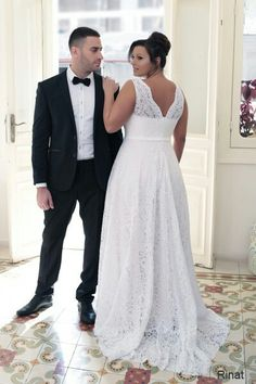 Champagne lace interior corset plus size wedding gown.