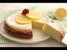 TORTA AL LIMONE SI SCIOGLIE IN BOCCA, senza farina,lievito, burro - YouTube I Foods, Sweet Tooth, Cheesecake, Food And Drink, Panna Cotta, Gluten Free, Pudding, Tasty, Sweets