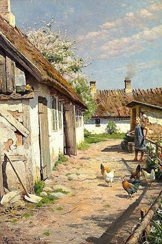 Peder Mork Monsted (1859 – 1941) – Pintor Dinamarquês_1