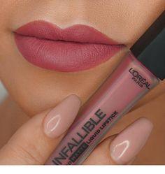 LOréal Infallible Liquid Lipstick in shade Petal Potion Vollere lippen Nyx Lingerie Liquid Lipstick, Lipgloss, Lipsticks, Beauty Make-up, Beauty Skin, Hair Beauty, Natural Beauty, Makeup Swatches, Drugstore Makeup