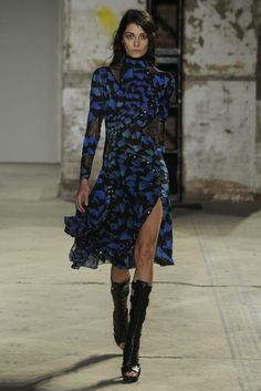 Proenza Schouler RTW Spring 2013.  Slits and leather boots are really in for next Spring.