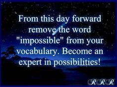 possibilities #quote