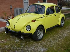 vw Sports Bug yellow color