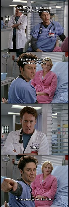 Scrubs: Even Dr Cox cried when watching The Lion King