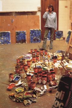 Joan Mitchell in her studio, (1926-1992) Abstract expressionism