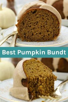 This Moist Pumpkin Bundt Cake is a homemade pumpkin cake covered in the maple brown butter glaze. This easy pumpkin cake is a perfect fall dessert. Pumpkin Bundt Cake, Pumpkin Cake Recipes, No Cook Desserts, Fall Desserts, Dessert Recipes, Apple Coffee Cakes, Cupcake Cakes, Cupcakes, Bundt Cakes