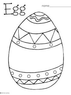 Little Stars Learning: FREE Easter/Egg Coloring and Pre-writing Printables