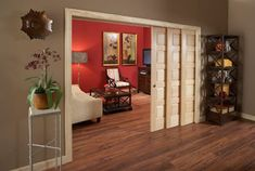 Installing interior barn door hardware can transform the look of your room. Read these steps in buying interior barn door hardware. Wooden Sliding Doors, Sliding Wall, Interior Pocket Doors, Interior Barn Doors, Pocket Door Hardware, Sliding Barn Door Hardware, Pocket Door Installation, Room Doors, Closet Doors