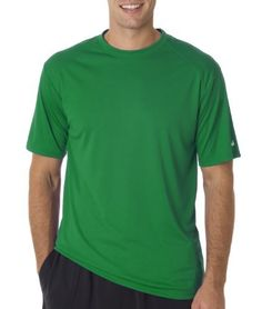 Badger Sportswear Mens Panel shoulder Performance TShirt Kelly Green XSmall Color Kelly Green Size XSmall Model 4120 ** Find out more about the great gardening product at the image link.