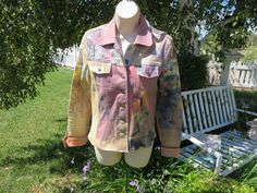 ANNE ELISABETH JEAN'S Jacket Paris Scenic Romantic Funky Fun S/M EUC  in PINKS #AnneElisabethjeans #BlazerJacket