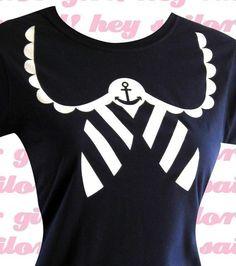 Sailor Shirt  Nautical Anchor NAVY TShirt  Choose by emandsprout, $16.00