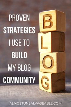 The increased blog traffic is great, but attracting fans that are eager to return for my next post is why I blog