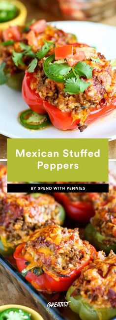 1. Mexican Stuffed Peppers #greatist https://greatist.com/eat/stuffed-peppers-recipes-that-are-healthy-yet-filling