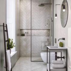 13 Rental Renovations You Can Probably Get Away With - bathroom - badezimmer Bathroom Interior Design, Interior, Modern Bathroom Design, Walls Room, Shower Doors, House Interior, Bathroom Design Small, Interior Design, Beautiful Bathrooms