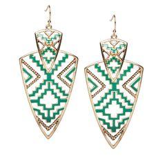 Jaded geometric earrings