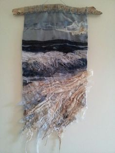 Surf onto Sand-Laura Edgar #textile art # embroidery