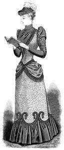 Free Vintage Image ~ Victorian Lady Reading