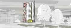 Проект многоэтажного жилого дома в районе Мещерское озеро г. Нижний Новгород #architecture #housing #modernism #1217floors_2650m #3000_5000m2 #frame_ironconcrete #highrisebuilding #structure