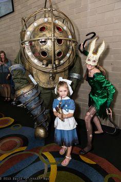 Big Daddy, Little Sister, and Splicer (Bioshock 2)   SLCC 2013