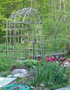 Twig arbors and fences - Maine Gardening Forum - GardenWeb