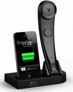Bluetooth Wireless iPhone/Cell Phone Handset & iPhone Docking Station