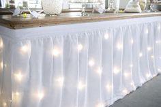 Tour de table lumineux LED origami