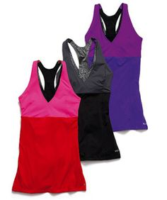 Color block workout tops