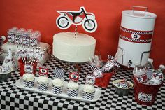 Motorcycle, MX, Dirt Bike Birthday Party Ideas   Photo 30 of 57   Catch My Party
