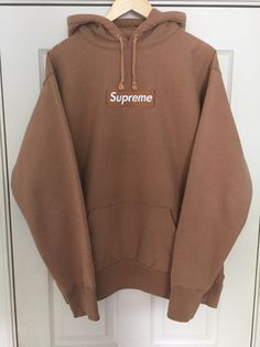 Buy Supreme Khaki Box Logo Hoodie Bogo, Size XL, Description Extremely  rare