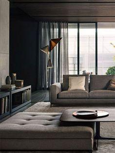 chic living room decor for men - Masculine Living Room