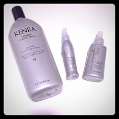 Bundle Kenra hair products! 1.) Full 1 liter Kenra thermal styling spray refill. Never used. New! 2.) 3.4 fl. Oz blow dry spray (advanced- dry thermal protectant. 3.) 60ml Hot spray firm hold heat protection spray. Kenra Other