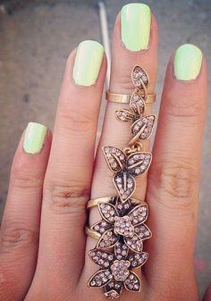 Floral fantasy ring