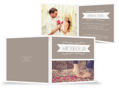 Einladungskarten Hochzeit Rahmen verspielt