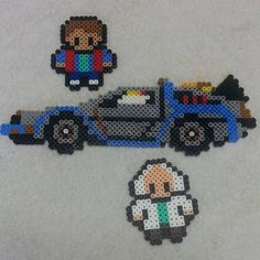 Back to the Future perler beads by Nerd Fabulous
