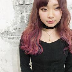 WEBSTA @ nrksk - ピンク×レッド×パープル×ブルーの4色を使ったデザインカラー☆*****ゆきちゃんいつもありがとうございます^_^*****#hair #haircolor #hairstyle #color #グレーアッシュ #アッシュグレー #ブルージュ #グラデーションカラー #外国人風カラー #姫路 #美容院 #puravida #プーラヴィーダ #himeji #japan #mery #mery_hairstyle #byshair #locari #ngkstyle #マニパニ #インナーカラー#デザインカラー