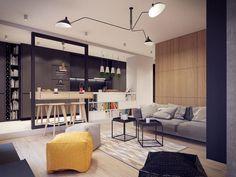 For Interieur   Maison moderne aux allures 60s   table suspendue
